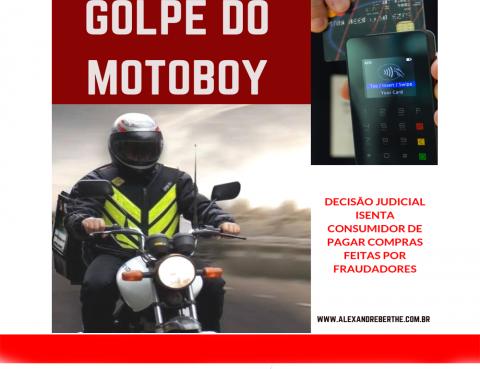 Golpe do motoboy fraude bancaria